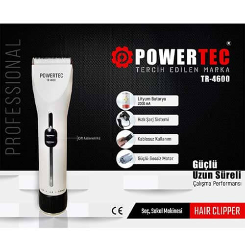 Powertec Tr-4600 Profesyonel Saç Ve Sakal Kesme Makinesi