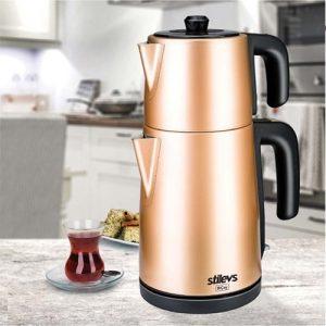 Stilevs Biçay Çelik Çay Makinesi Rose&bakır